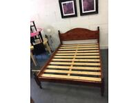 King Size Stained Pine Bed