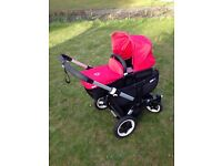 Bugaboo Donkey Twin / Mono Buggy & Full Travel System & 2 BeSafe car seats. Top condition Cost £1900