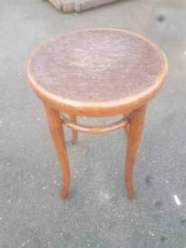Stool - Quality Round Top Oak Side Table.