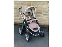 Last shop display Icoo Peak air world facing pram pushchair unisex beige extending handle flat fold
