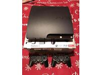 Hardly used Sony PS3 in Excellent Condition 250Gb, Boxed, with 2 controllers