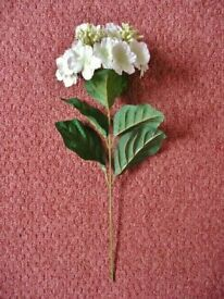Large White with Pale Green Centres Artificial Hydrangea Flower for Flower Arrangement or Vase