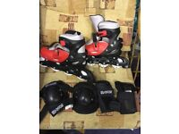Monster inline skates size 5-7 brand new with box and knee and arm protection pads
