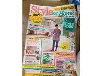 Home magazines.