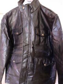 Men's NEW Leather Jacket Soft Patchwork (Lambskin Leather) Make Coopers