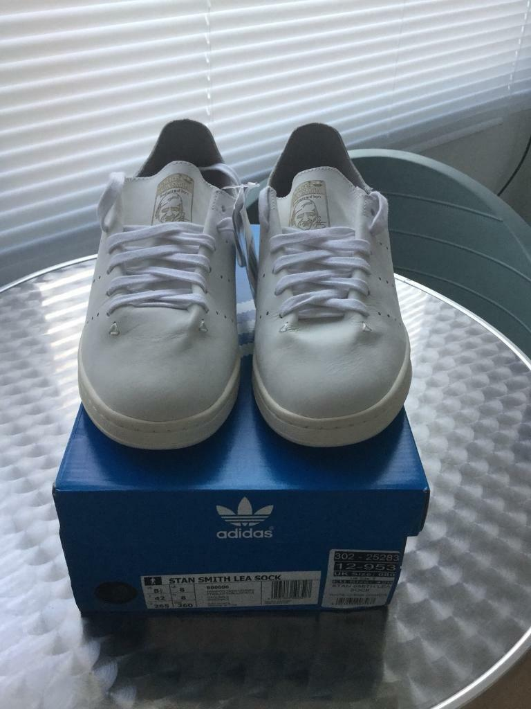 Adidas Stan Smith leather sock size 8