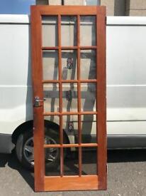 Glass panel door