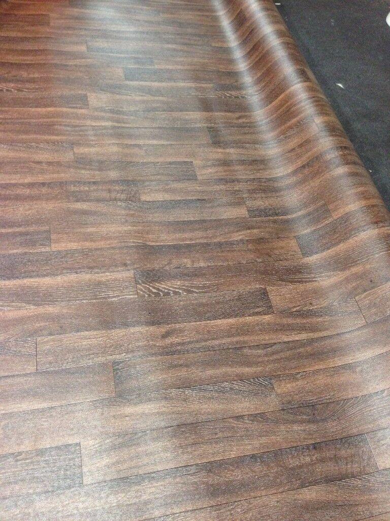 Walnut Effect Vinyl Floor Covering Also Beech / Oak coloured Vinyl Flooring 3mt & 4mt