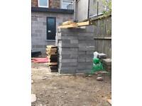 100 concrete blocks