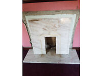 Marble fire back plate for surround