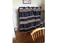 John Lewis curtains for short but long Windows(set of 2 identical)