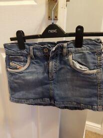 Diesel denim skirt waist 28