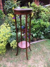 Vintage wooden pedestal stand