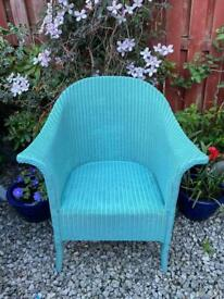 Turquoise Wicker Chair