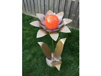 Large Flower Sculpture Ornament with Solar Light Option