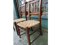 Pair Of Hall / Old Chapel Chairs