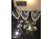Jasper Conran set of 6 crystal large wine glasses