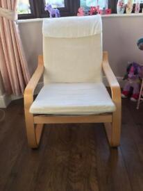 Ikea cream chair - great for Christmas - potential gaming chair for child's room