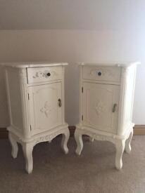 Shabby Chic Bedside cabinets (set of two)