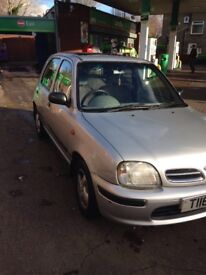 Silver Nissan Micra