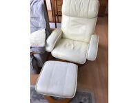Scotts of Stow Electric Heated Massage Sofa Chair With Footrest - Cream