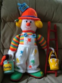 Hand knitted Painter and Decorater doll