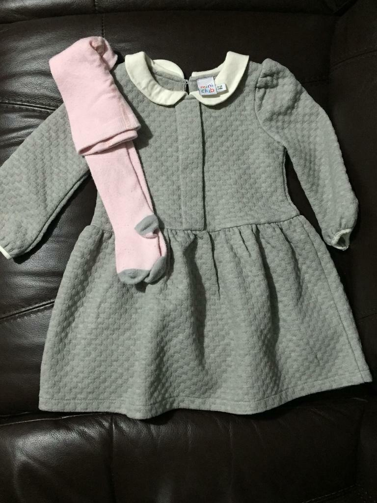 d359697bc MINI CLUB Baby Girl Peter Pan Collar Dress 9-12 Months with Tights | in  Hebburn, Tyne and Wear | Gumtree