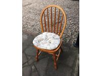 4x Dining room chairs, wooden