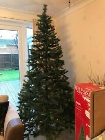 7ft Artificial Christmas Tree with LED Lights