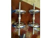 Weights dumbells 2x10kg 1x hammer curl bar £39