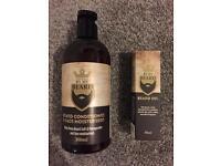By my beard - beard oil 30ml - beard conditioner and face moisturiser 300ml