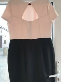 ladies pink and black M&S dress, brand new size 16