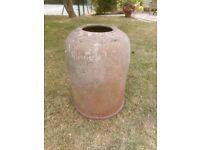Vintage Terracotta Rhubarb Forcer. LARGE