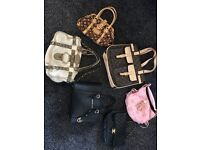 Different sizes and styles of handbags