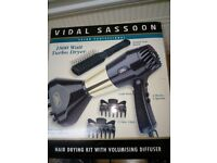 vidal sassoon hairdryer kit with volumiser
