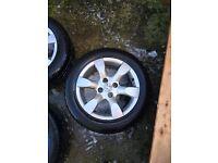 Full set of Peugeot 307 alloy wheels