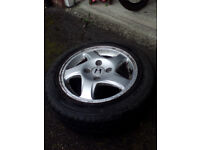 """15"""" Alloy wheels with Tyres ( x4) - Honda Prelude 1999"""