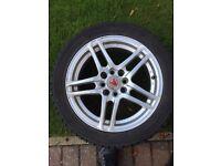 Winter/Snow Tyres c/w Wolfrace Alloys