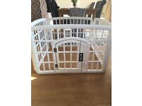 White play pen for children or pets