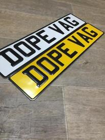 PRESSED PLATES/CAR PLATES/LICENSE PLATE/£20 A SET