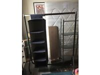 Clothes Rail and Fabric shelves
