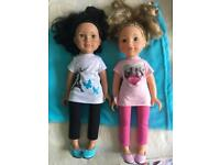 2x Design a friend dolls with onesies and inflatable chair!