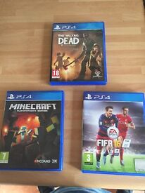 Fifa 16, Minecraft and the Walking Dead.