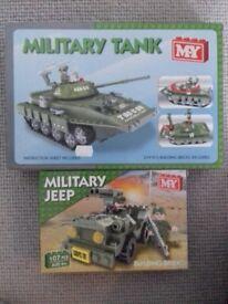 MY building bricks: Military Tank and Jeep