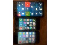 2 x iphone 4 & nokia lumia 930