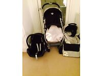 Oyster pushchair, maxi cosi buggy with base and accessories