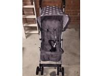 My Babiie Grey Polka dot Pushchair