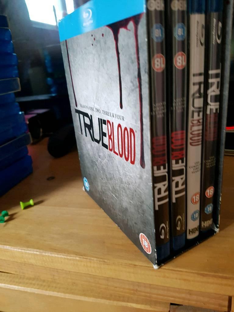 True blood seasons 1-4 blu Ray box set