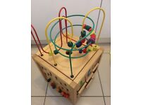 Wooden activity cube only £5!