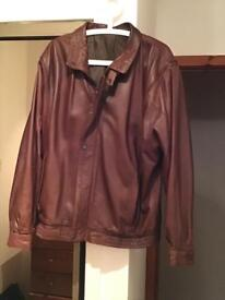 "Leather ""Bomber"" Jacket by County Coats of London. 44 inch chest , relaxed fit , soft feel ."